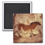 Rock painting of a horse, c.17000 BC 2 Inch Square Magnet