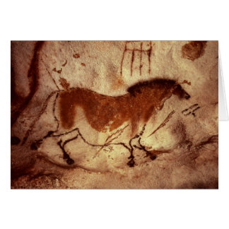 Rock painting of a horse, c.17000 BC Card