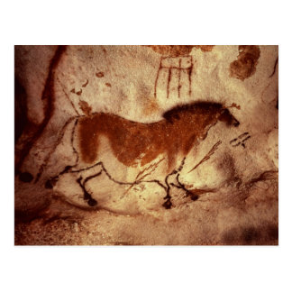 Rock painting of a horse, c.17000 BC Postcard