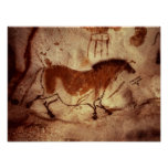 Rock painting of a horse, c.17000 BC Poster