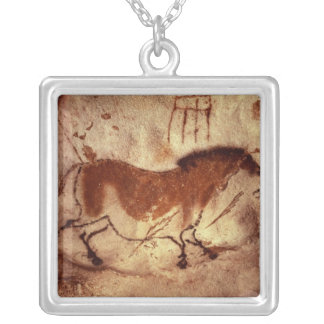 Rock painting of a horse, c.17000 BC Square Pendant Necklace