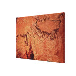 Rock painting of a hunting scene, c.17000 BC Gallery Wrap Canvas