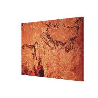 Rock painting of a hunting scene, c.17000 BC Canvas Print