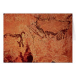 Rock painting of a hunting scene, c.17000 BC Greeting Cards