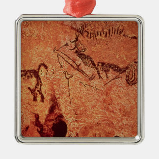 Rock painting of a hunting scene, c.17000 BC Metal Ornament