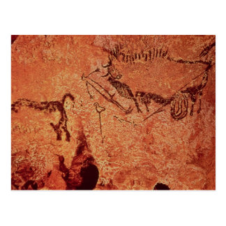 Rock painting of a hunting scene, c.17000 BC Post Cards