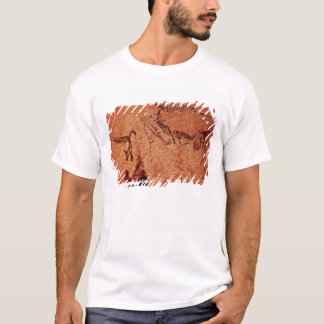 Rock painting of a hunting scene, c.17000 BC T-Shirt
