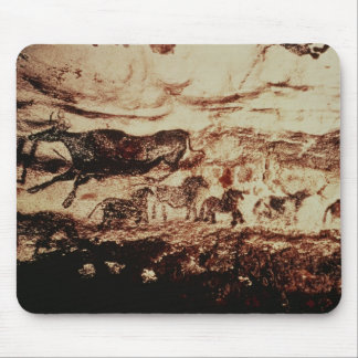 Rock painting of a leaping cow mouse pad