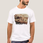 Rock painting of a leaping cow T-Shirt
