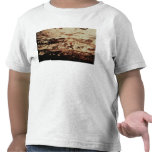 Rock painting of a leaping cow t-shirts
