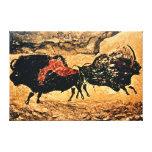 Rock painting of bison, c.17000 BC Canvas Prints