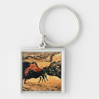 Rock painting of bison, c.17000 BC Keychain