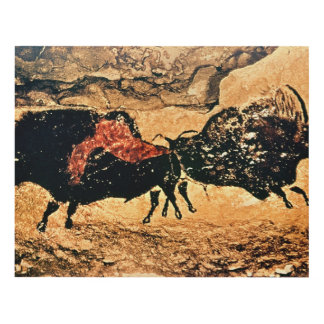 Rock painting of bison, c.17000 BC Wood Wall Art