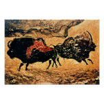 Rock painting of bison, c.17000 BC Print