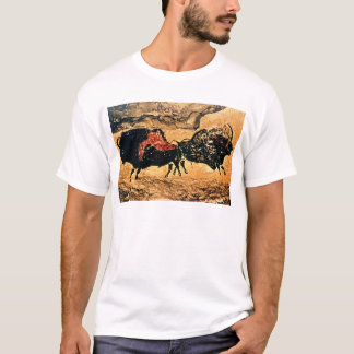 Rock painting of bison, c.17000 BC T-Shirt