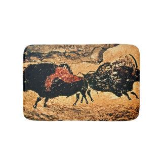 Rock painting of bison, c.17000 BC Bath Mats