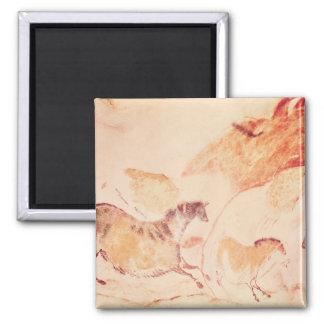 Rock painting of horses c 17000 BC Fridge Magnet