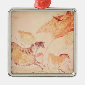 Rock painting of horses, c.17000 BC Metal Ornament