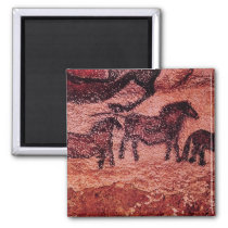 Rock painting of tarpans , c.17000 BC Magnet