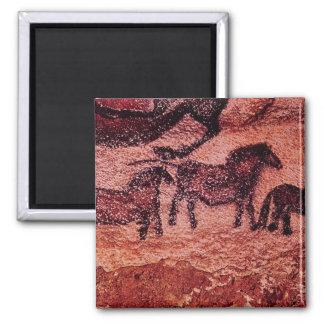 Rock painting of tarpans c 17000 BC Fridge Magnet