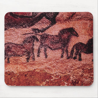 Rock painting of tarpans , c.17000 BC Mouse Pad