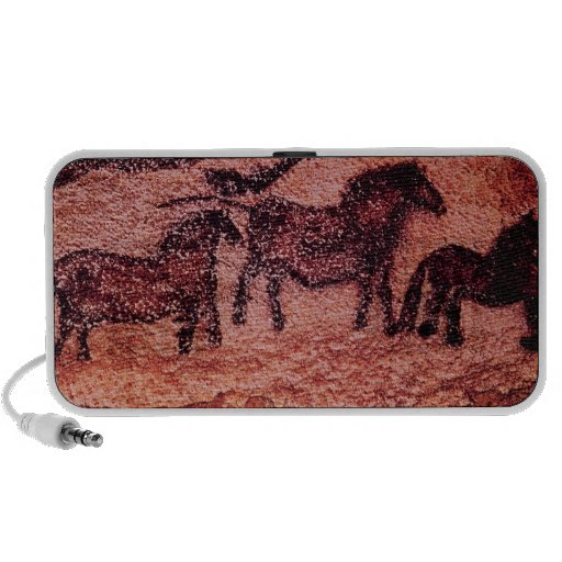 Rock painting of tarpans , c.17000 BC Portable Speaker