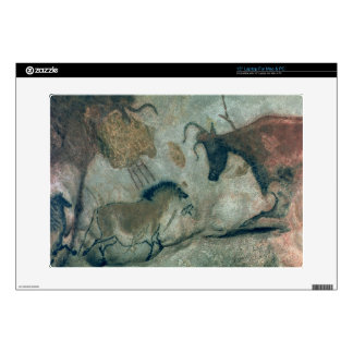 """Rock painting showing a horse and a cow, c.17000 B 15"""" Laptop Decal"""