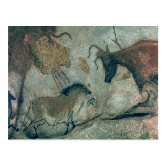 Rock painting showing a horse and a cow, c.17000 B Postcard