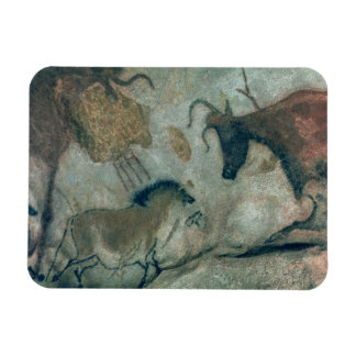 Rock painting showing a horse and a cow c 17000 B Magnets