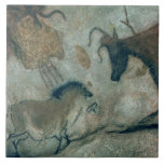 Rock painting showing a horse and a cow, c.17000 B Ceramic Tile