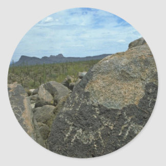 Rock Painting Round Stickers