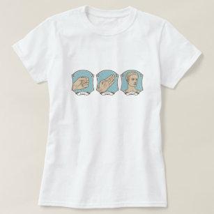 a406cde76 Rock Paper Scissors T-Shirts - T-Shirt Design & Printing | Zazzle