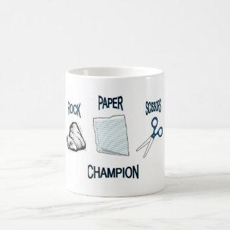 Rock Paper Scissor Champion Classic White Coffee Mug