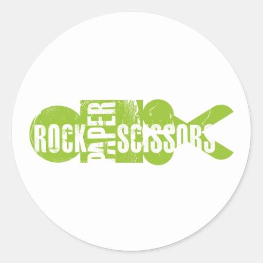 Rock Paper Scissors 2 Classic Round Sticker