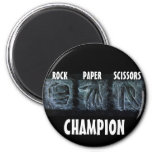 Rock Paper Scissors 2 Inch Round Magnet