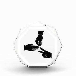 Rock Paper Scissors Acrylic Award