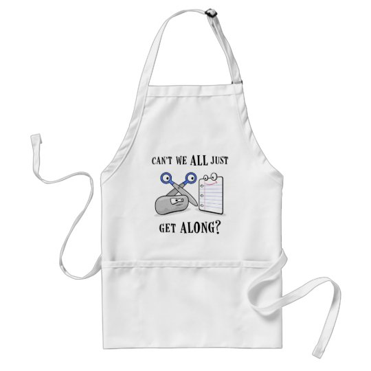 Rock-Paper-Scissors Adult Apron
