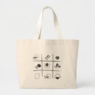 rock-paper-scissors tote bag