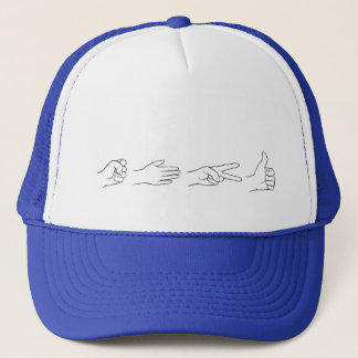 Rock, Paper, Scissors, Bomb Trucker Hat