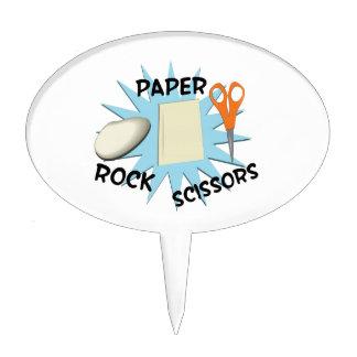 Rock Paper Scissors Cake Topper