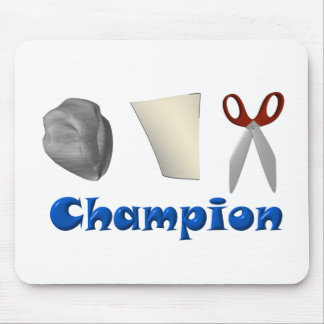 Rock Paper Scissors Champ Mouse Pad