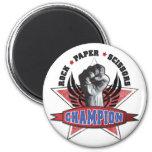 Rock, Paper, Scissors Champion 2 Inch Round Magnet