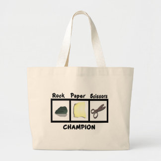 Rock Paper Scissors Champion Tote Bags