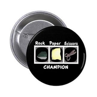 Rock Paper Scissors Champion Button