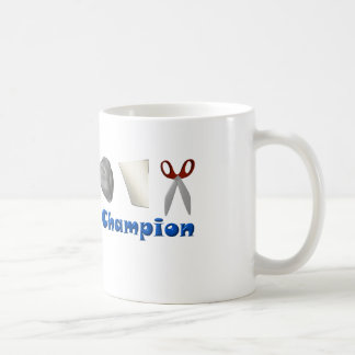 Rock Paper Scissors Champion Classic White Coffee Mug