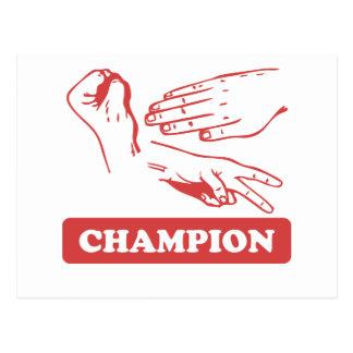 Rock Paper Scissors Champion Postcard
