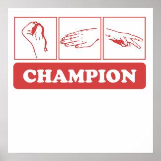 Rock Paper Scissors Champion Print