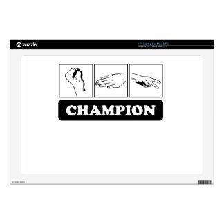 "Rock Paper Scissors Champion 17"" Laptop Decal"