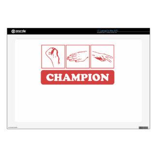 "Rock Paper Scissors Champion Skins For 17"" Laptops"