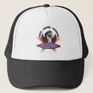 Rock, Paper, Scissors Champion Trucker Hat